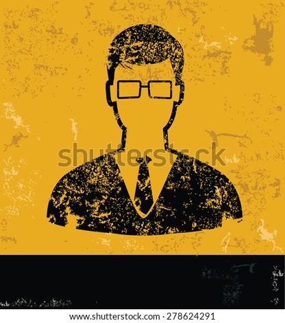 businessman design on yellow