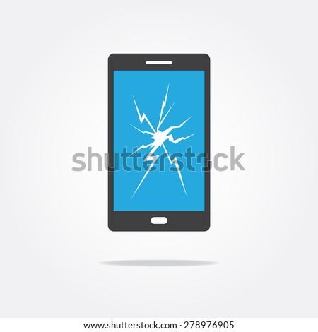 broken screen phone icon