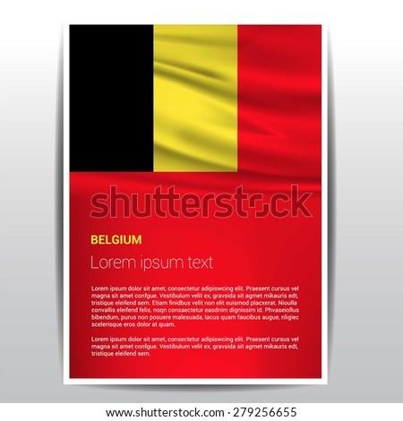 belgium flag brochure   vector