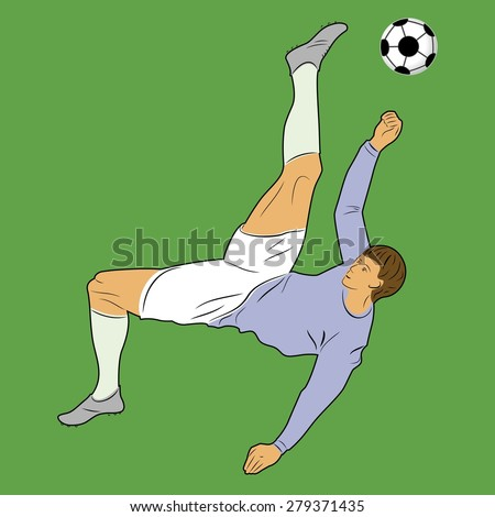 vector color soccer player