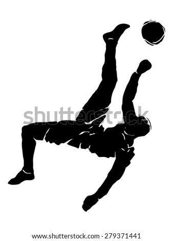 vector black and white soccer