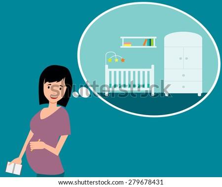 nursery a pregnant woman