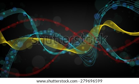abstract wave widescreen