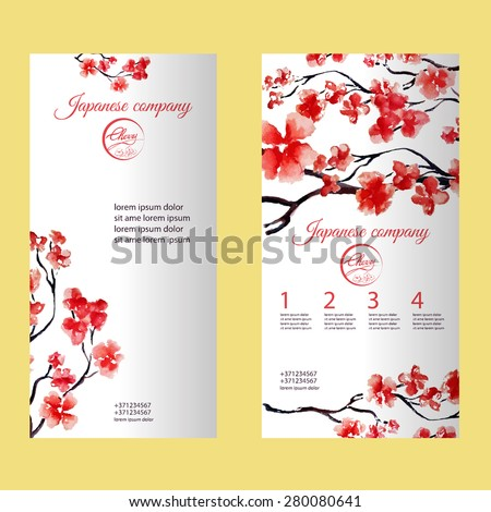 vertical flyer or brochure with