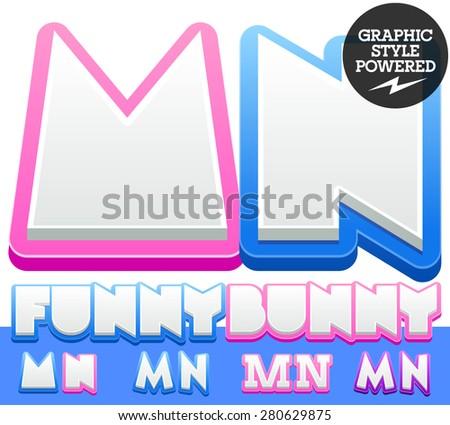 vector cute alphabet for