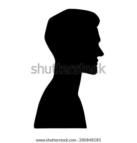 vector portrait of a man