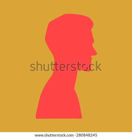 vector silhouette  portrait of