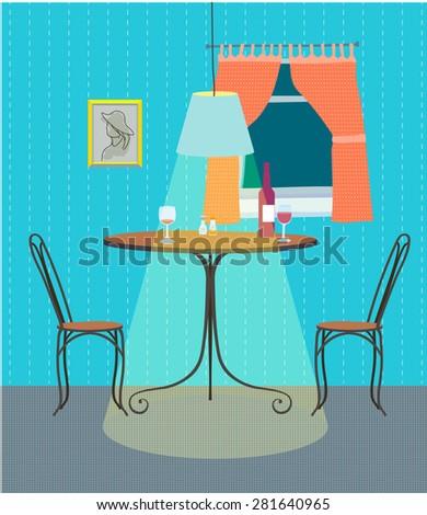 vector interior cafe intimate