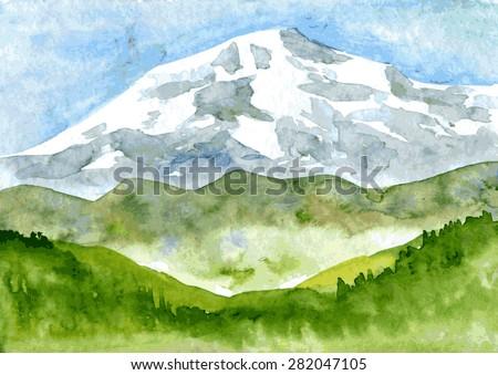 abstract vector watercolor