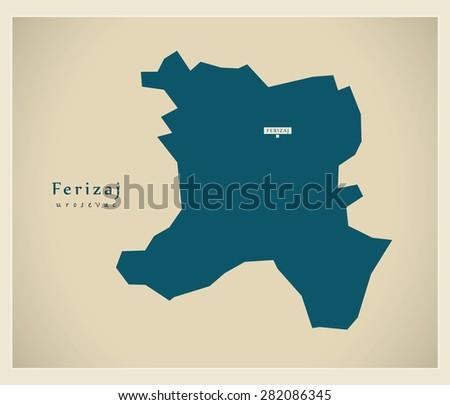 modern map   ferizaj rs