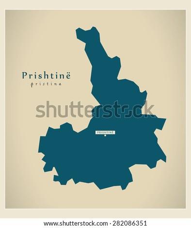 modern map   prishtine rs
