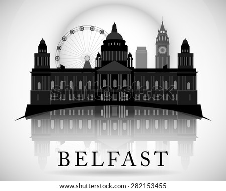modern belfast city skyline