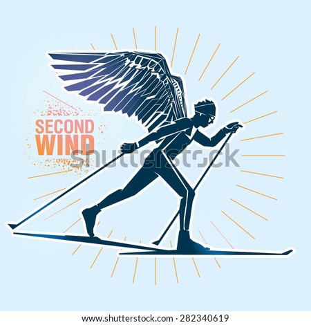 cross country skiing vector