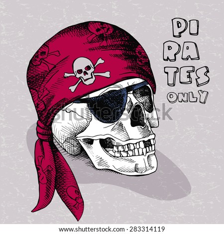 image of pirate skull in a