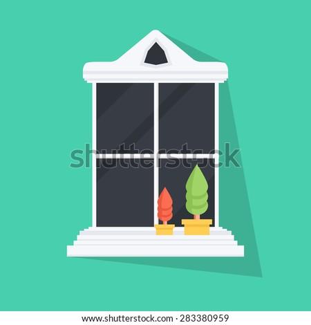 vector flat window illustration