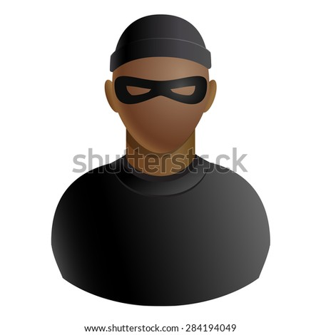 thief avatar of criminal man in