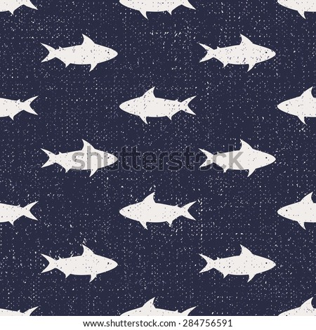 seamless pattern with sharks