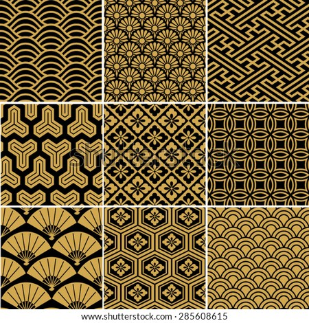 seamless vector pattern set