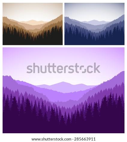 three vector landscapes