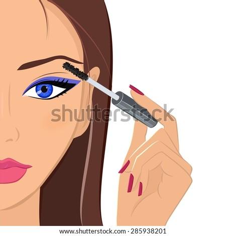 attractive brunette female
