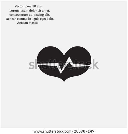 heart beat rate icon  fitness