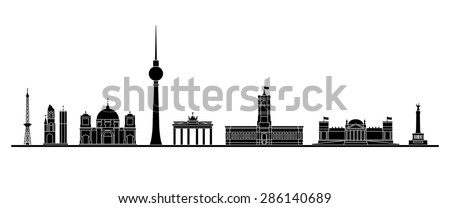 berlin skyline   vector