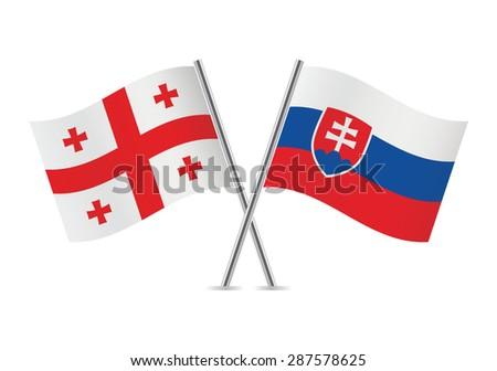 georgia and slovakia flags