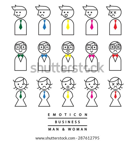 emoticon line business man and