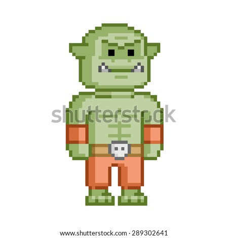 pixel orc for 8 bit video game