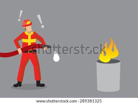 cartoon fireman standing in