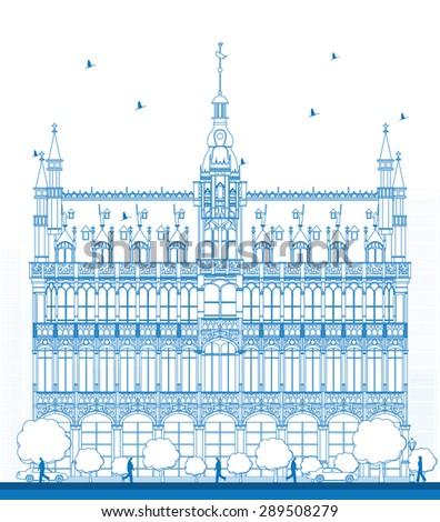 outline building maison du roi