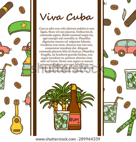 cuban vector graphic elements