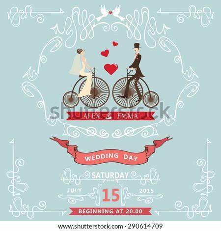 the wedding invitationcartoon