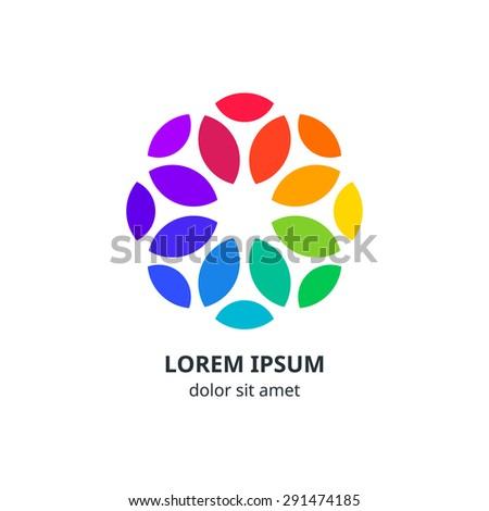 colorful circle  corporate logo