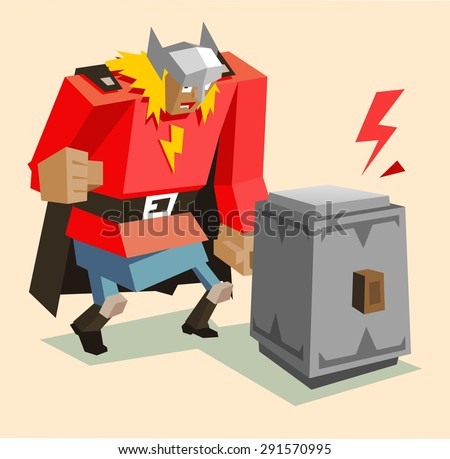 thor the super warrior vector
