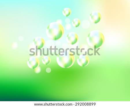 soap bubbles fly background