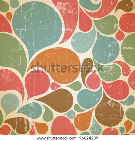 vector colorful abstract retro