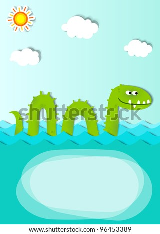 creative poster with sea monster