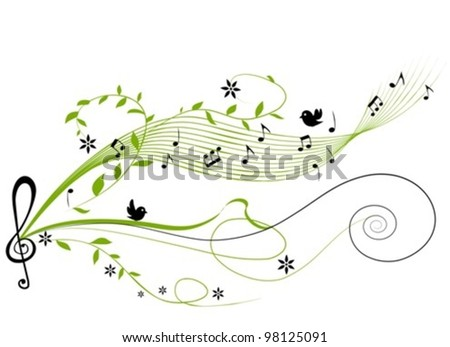 musical green background