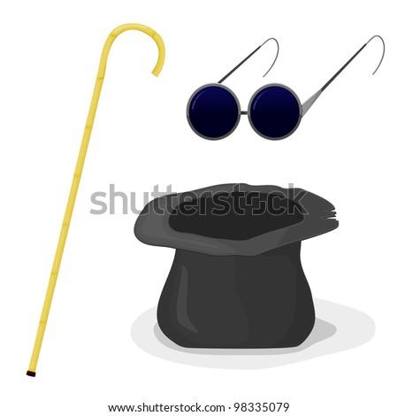 Hat Eye Stick Silhouette clip art Free Vector / 4Vector