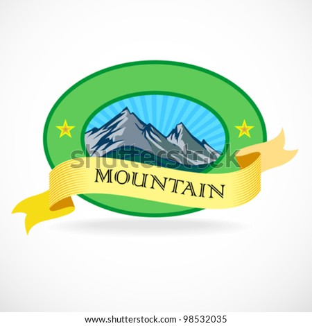 premium   mountain label