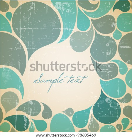 vector water abstract retro