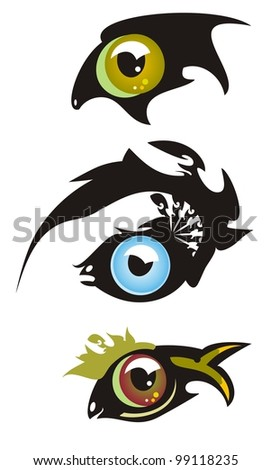 eye in the form of fish three