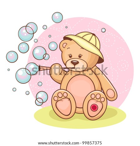 illustration of cute teddy bear