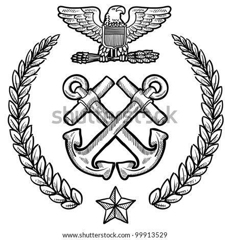 doodle style military insignia