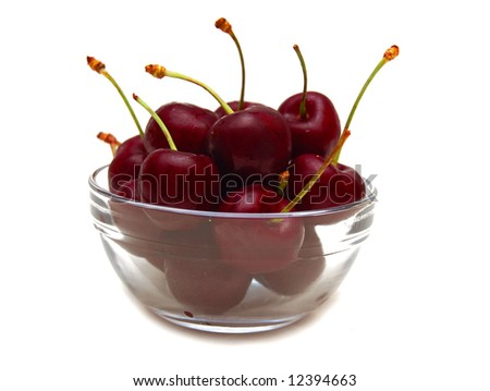 a bowl of ripe cherries