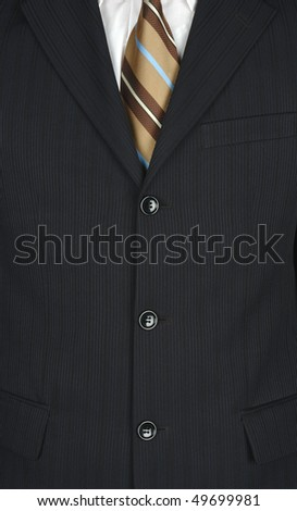 A Business man with brown tie - stock photo