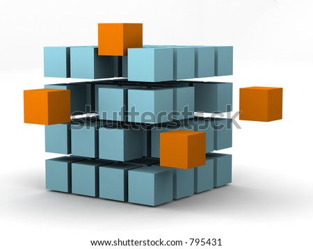 #1 - a 3d render series showing change and motion - stock photo