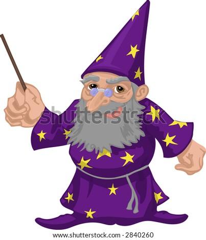 A friendly wizard. Raster version - stock photo