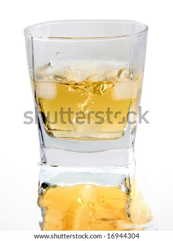 a glass of  whiskey - stock photo